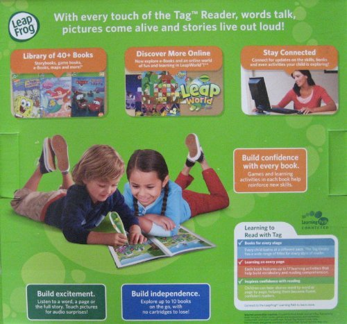 Leapfrog Tag Reading System Set + 12 Books Short and Long Vowels - Learn to Read by Tag Reading System (Image #3)