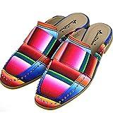 Montana West Mule Slide Mult-Color Rainbow Slip On Western Aztec Women's Shoes (10)