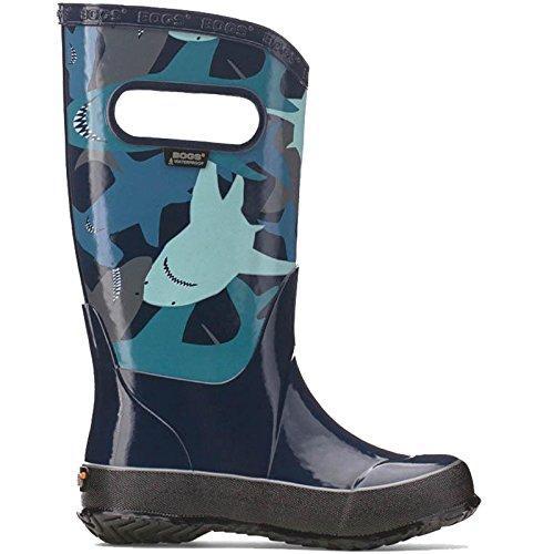 Jungen Moore Shark Navy leicht Multi Regen Stiefel Gummistiefel Gummistiefel 71928