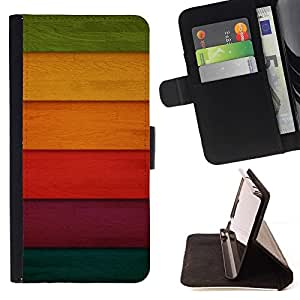 DEVIL CASE - FOR Sony Xperia M2 - Colorful Colored Wood - Style PU Leather Case Wallet Flip Stand Flap Closure Cover
