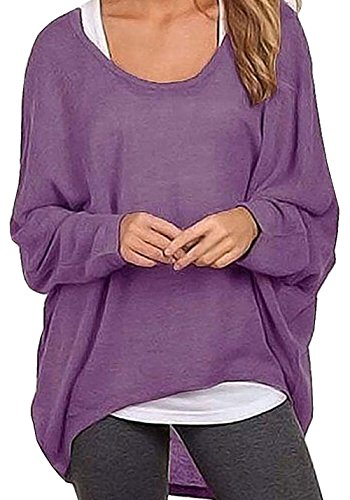 Rjxdlt Women's Batwing Sleeve Pullover Baggy Tops Casual Loose T Shirts Off Shoulder Blouses for Women
