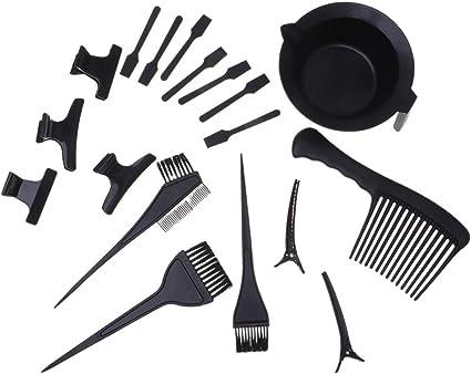 Minkissy 46Pcs Haarfarbe Mischschalen tinte Haarbürste Salon ...