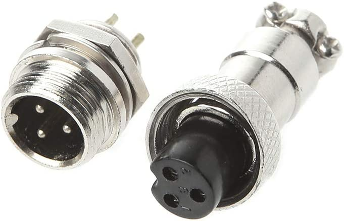 YoungerY 1 Set Male and Female One connecteur GX12 4PIN Aviation