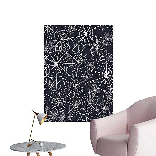 SeptSonne Wall Stickers for Living Room Spiderweb Halloween Texture Vinyl Wall Stickers Print,16