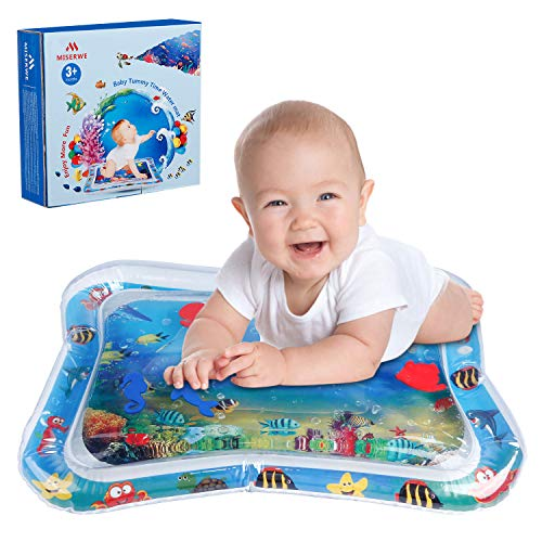 (Miserwe Inflatable Baby Water Mat Inflatable Tummy Time Premium Water Mat The Perfect Fun Time Play Activity Center for Children &)