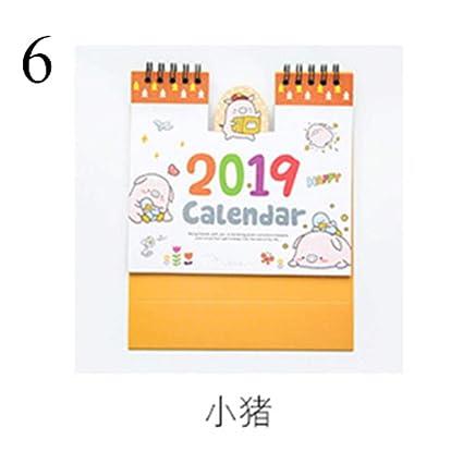 Grea 2019 Gatos De pie Calendario de Escritorio Dibujos Animados Animales Escritorio Lista de tareas Oficina