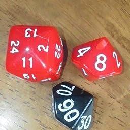 Amazon Naby Trpg ボードゲーム カードゲーム 用 多面体 サイコロ ダイス セット 31個 3色 黒 白 赤 10種 メタルダイス 1個 収納袋付き ダイス サイコロ ホビー