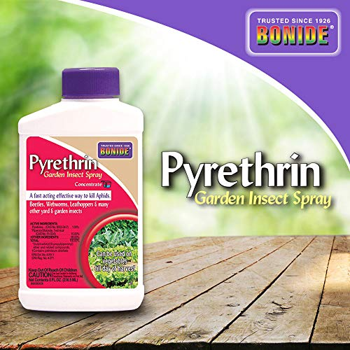 Bonide (BND857) - Pyrethrin Garden Insect Spray Mix, Outdoor Insecticide/Pesticide Concentrate (8 oz.), Brown/A