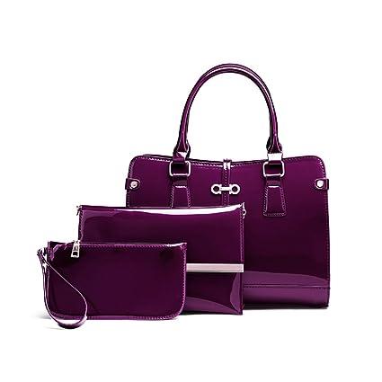 52411ff052f1 Amazon.com  Lady s Bag PU Leather Handbag + Shoulder Bag + Body Work ...