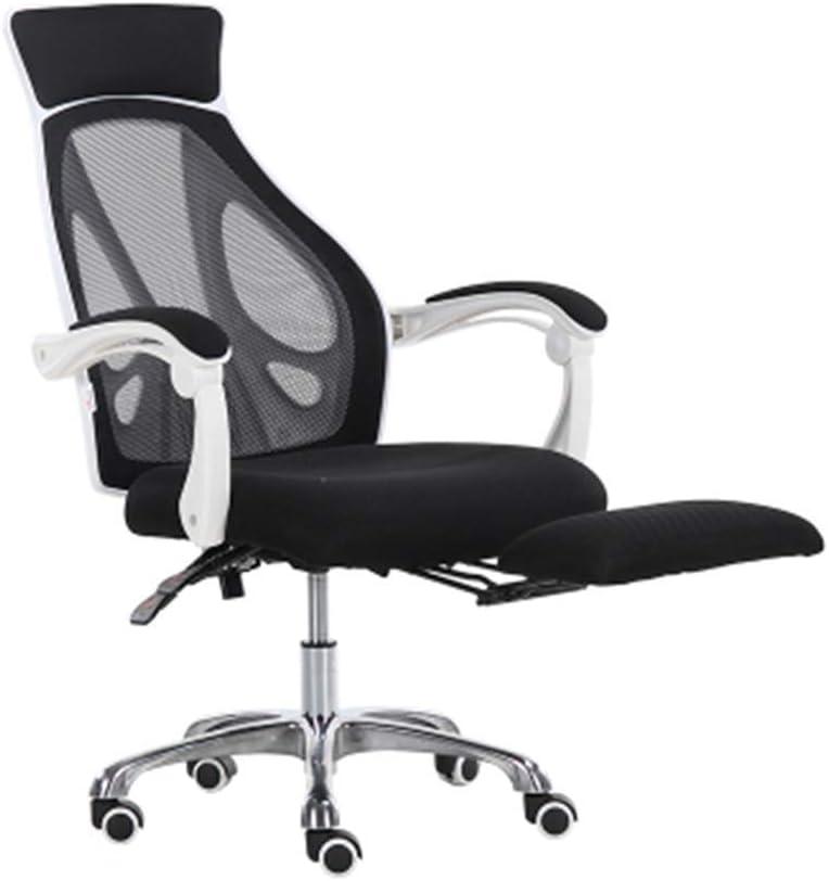 GSN chaise de bureau Lounge couchage chaise passage souterrain chaise de bureau fauteuils (Color : BLACK) Black