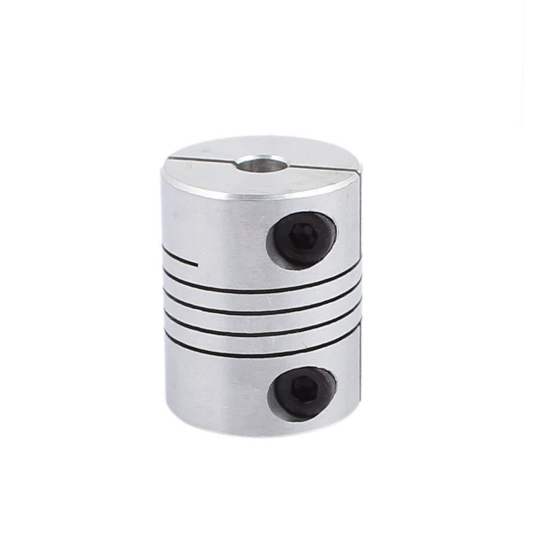 Xnrtop 5mm to 6mm Shaft Coupling 25mm Length 20mm Diameter Stepper Motor Coupler Aluminum Alloy Joint Connector for 3D Printer CNC Machine DIY Encoder Pack of 2)
