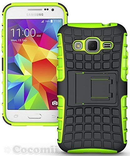 Cocomii Grenade Armor Galaxy Core Prime/Win 2/Prevail Case New [Heavy Duty] Tactical Grip Kickstand Shockproof Bumper [Military Defender] Full Body Cover for Samsung Galaxy Core Prime (G.Green) (Samsung Galaxy Prevail Cases)