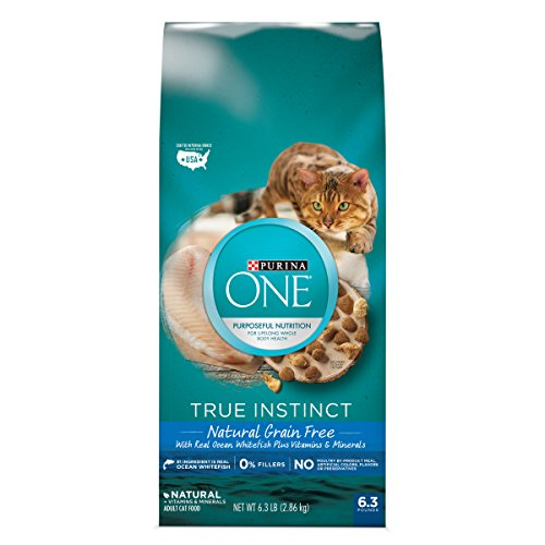 One Cat Natural (Purina ONE True Instinct Natural Grain-Free With Ocean Whitefish Adult Dry Cat Food - 6.3 lb. Bag)