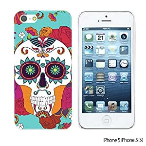 OnlineBestDigitalFlower Pattern Hardback Case For Sumsung Galaxy S4 I9500 Cover Apple Sumsung Galaxy S4 I9500/Red Rose With Skull