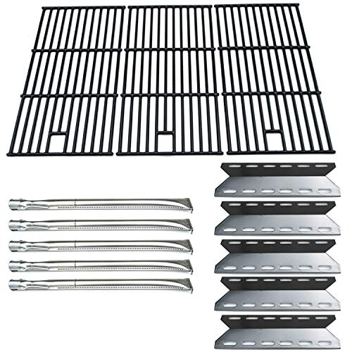 Direct Store Parts Kit DG108 Replacement Nexgrill 720-0025 Gas Grill Burner, Heat Plate, Cooking Grid (Stainless Steel Burner + Porcelain Steel Heat Plate + Porcelain Cast Iron Cooking Grid)