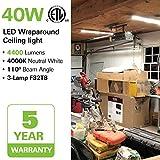 4FT LED Wraparound Light 40W 4 Foot LED Shop Lights