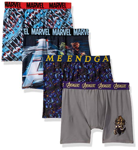 Marvel Boys' Big Avengers Athletic Boxer Brief, End Game Multi, 10