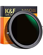 K&F Concept 67mm Variable Fader ND2-ND32 ND Filter and CPL Circular Polarizing Filter 2 in 1 for Camera Lens No X Spot ND Filter Frame Self-Locking