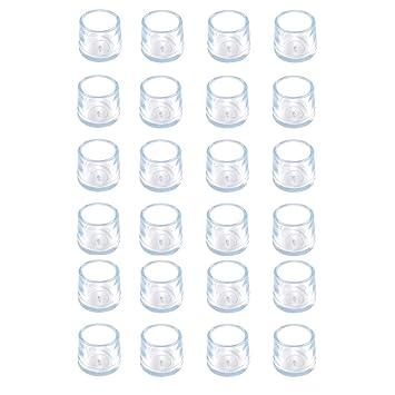 para Evitar ara/ñazos de Silicona Transparente 24 Protectores para Patas de Silla JWShang Protector de Suelo de Madera para Patas de Muebles Patas de Mesa