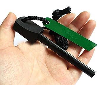 3 piezas de magnesio de la supervivencia del pedernal diente raspador Piedra Fuego Starter Kit ligero (el tamaño grande): Amazon.es: Deportes y aire libre