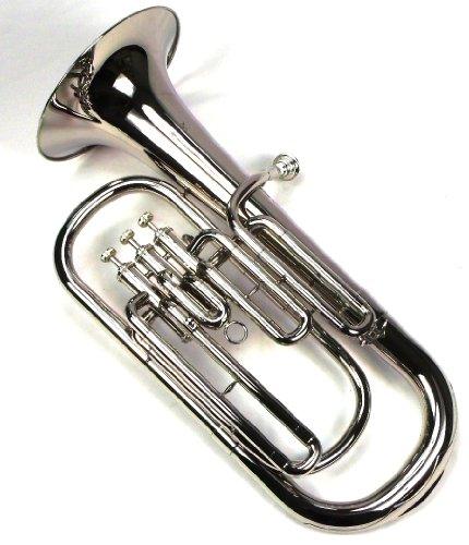 Advanced Monel Pistons Bb Baritone Horn w/Case and Mouthpiece-Nickel Plated Finish by Moz