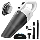 Cordless Handheld Vacuum Cleaner- Zerhunt Powerful Rechargable Hand Vac Cleaner,Portable Lightweight Pet Hair Vacuum,Dry Wet Dust Busters For Home and Car Cleaning With Quick Charge Tech