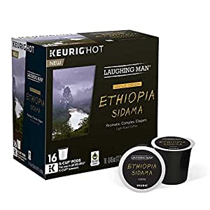 Laughing Man Ethiopia Sidama Coffee K Cups Amazon Com