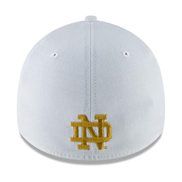 low priced 111c9 bcf95 New Era Men s White Notre Dame Fighting Irish College Classic 39Thirty Flex  Hat