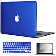 "Easygoby 3in1 Matte Frosted Silky-Smooth Soft-Touch Hard Shell Case Cover for 13-inch MacBook Air 13.3"" (Model:A1369 / A1466) + Keyboard Cover + Screen Protector - Royal Blue"
