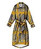 Winwinus Womens Longline Outerwear Plus Size Bandage Cut Africa Trench Coat Nine 3XL