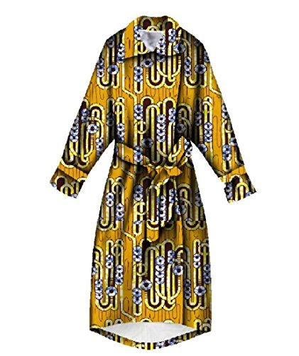 Winwinus Womens Longline Outerwear Plus Size Bandage Cut Africa Trench Coat Nine 3XL by Winwinus