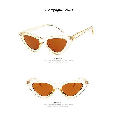 JJYJ Vintage gafas de sol ojo de gato para las mujeres 2019 nuevo unisex classic retro leopardo unisex Uv400 conducción al aire libre Champán: Ropa y accesorios
