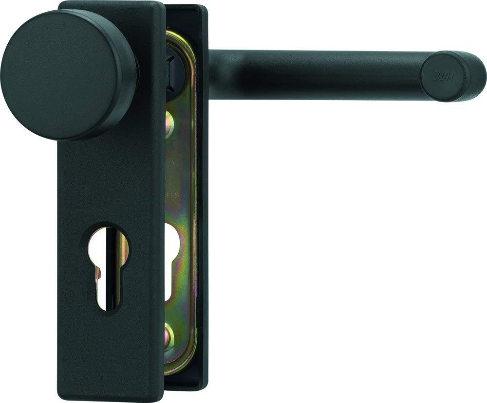 nero scuro opaco colore Hoppe ABUS BKS Maniglia per porte antincendio