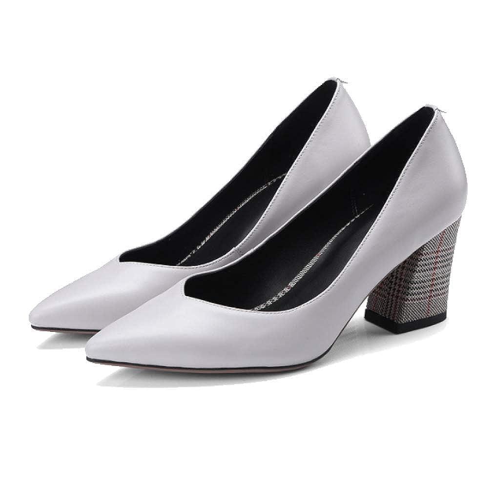 YCGCM Chaussures en Cuir pour pour pour Femmes Style Européen Et Américain Chaussures De Mariage Pointues Simples à Talons Hauts,LightGris -41B07KQD1XKKParent 08d8a4