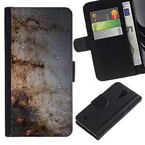 JackGot ( Galaxia Vía Láctea ) Samsung Galaxy S4 IV I9500 la tarjeta de Crédito Slots PU Funda de cuero Monedero caso cubierta de piel