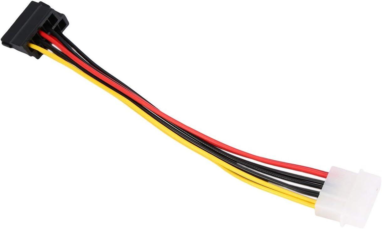 Ba30DEllylelly Molex IDE de 4 Pines a 2 de 15 Pines Serial ATA SATA HDD Cable Adaptador de Corriente Cable Divisor en Y liviano Cable de Disco Duro Dual