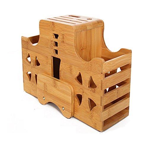 kihappy Home Premium Support Bloc à couteaux en bambou de cuisine…