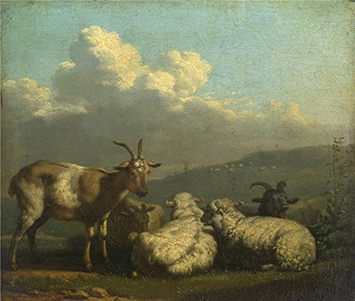 Oil Painting 'Karel Dujardin Sheep And Goats', 12 x 14 inch / 30 x 36 cm , on High Definition HD canvas prints is for Gifts And Foyer, Home Theater And Laundry Room Decoration, wallart