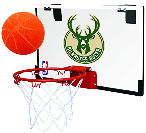 Rawlings NBA Milwaukee Bucks 00664202111NBA Game On Polycarbonate Hoop Set (All Team Options), Green, Youth
