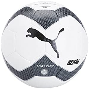 PUMA Power Camp 2.0 NFHS Soccer Ball (White/Black, 4)