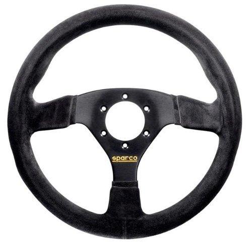Sparco 015R383PSN Suede Steering Wheel, Black