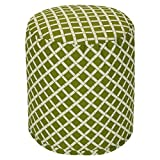 Majestic Home Goods Sage Bamboo Indoor/Outdoor Bean Bag Ottoman Pouf 16'' L x 16'' W x 17'' H