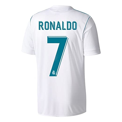 9123ace0577 Amazon.com  adidas Men s 2017   2018 Real Madrid Ronaldo Home Jersey   Clothing