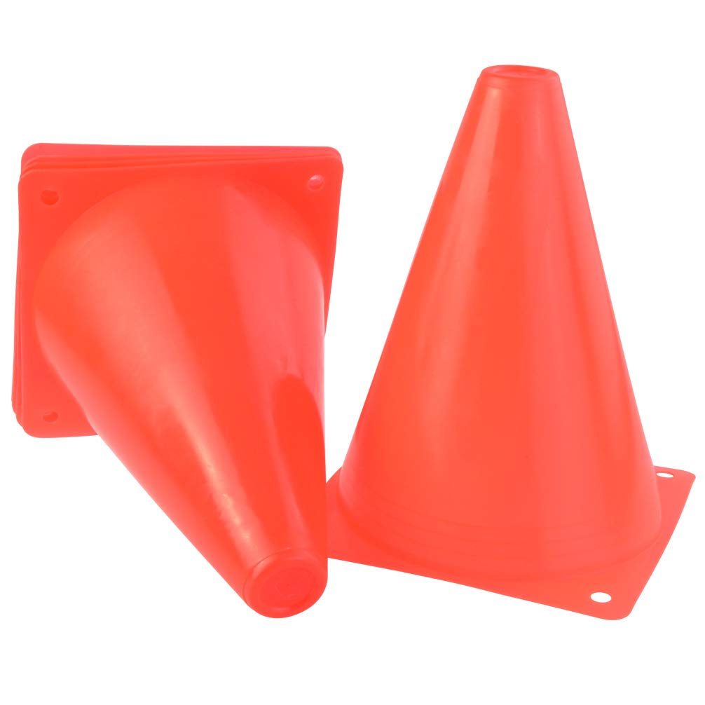 Tongcloud Training Cones Set of 20 Multipurpose Traffic Cones for Kids and Athlete 7 Inch Plastic Soccer Cones for Training