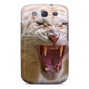 Galaxy S3 Case Cover - Slim Fit Tpu Protector Shock Absorbent Case (white Tiger) by icecream design