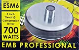 "1"" Voice Coil 700 Watts High Power Tweeter Compression Horn Driver 1-3/8"" ESM6"