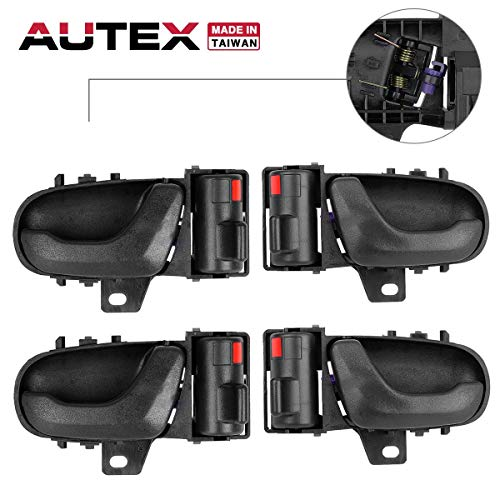 (AUTEX 4pcs Interior Door Handles Compatible with GEO Metro 1989 1990 1991 1992 1993 1994, 2pcs Left (Driver Side) + 2pcs Right (Passenger Side))