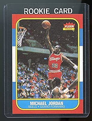 1986-87 Fleer #57 Michael Jordan Chicago Bulls Rookie REPRINT Card Special! Nice Gift Ships in New Card Holder