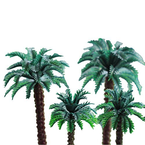 ZN Dollhouse Miniature Coconut Tree Palm for Doll House Decor