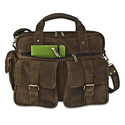 hot sale David King & Co. Double Pocket Briefcase, Café, One Size